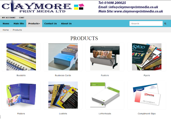 For Small Format printing solutions click on the image to take you to our dedicated secure online shop